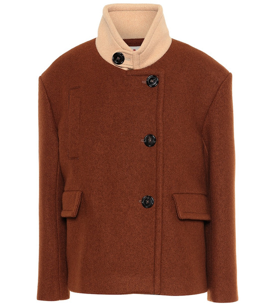 Marni Wool jacket in brown