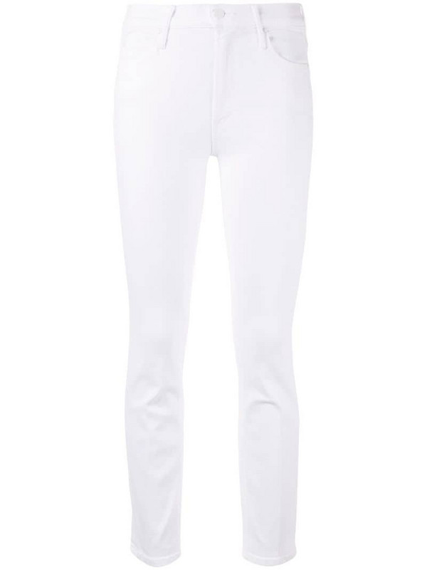 Mother The Mid Rise Dazzler Ankle jeans in white