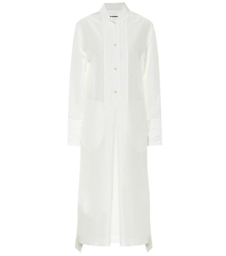 COLOVOS Midi shirt dress in white