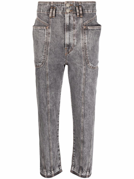 Isabel Marant Étoile high-rise cropped jeans - Grey