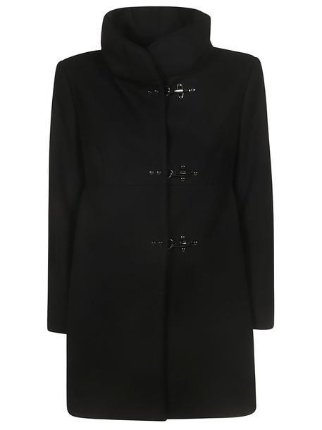 Fay New Romantic Coat in nero