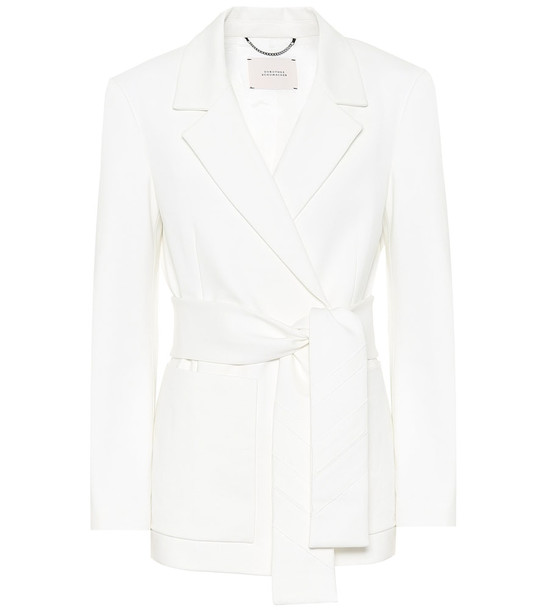 Dorothee Schumacher Exclusive to Mytheresa – Emotional Essence jersey wrap blazer in white