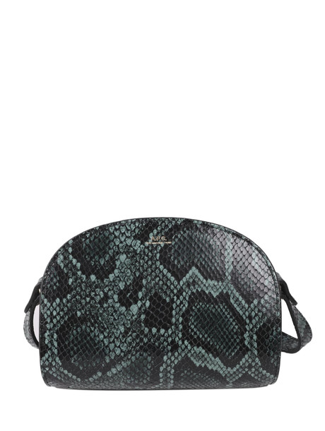 A.P.C. A.p.c. Python Demi-lune Mini Bag in green