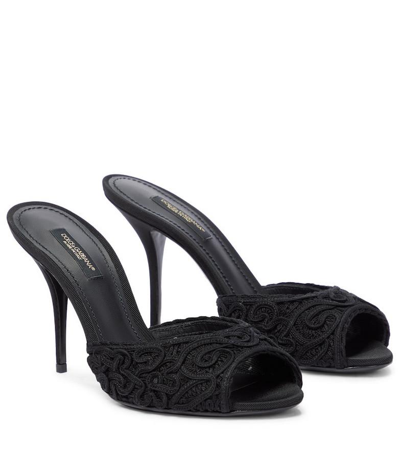 Dolce & Gabbana Cordonetto lace sandals in black