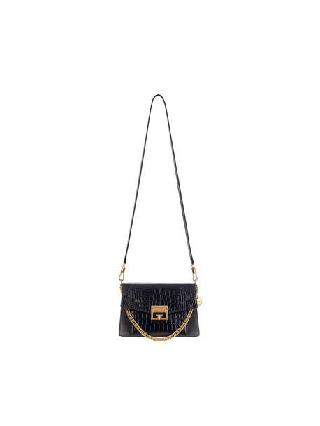 Givenchy Small Gv3 Calf Leather Bag/cocca in black
