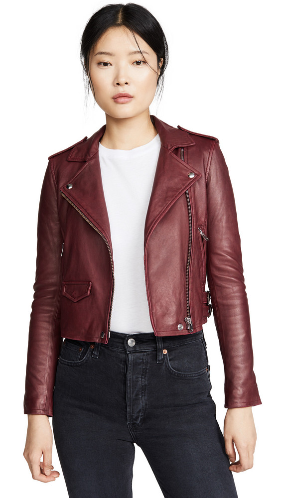 IRO Ashville Leather Jacket in red