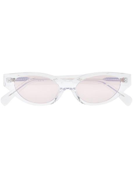 Karen Wazen The Glamerous Cat-eye Sunglasses in brown / clear