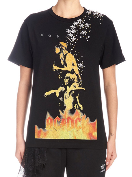 Tiger In The Rain 'ac/dc' T-shirt in black