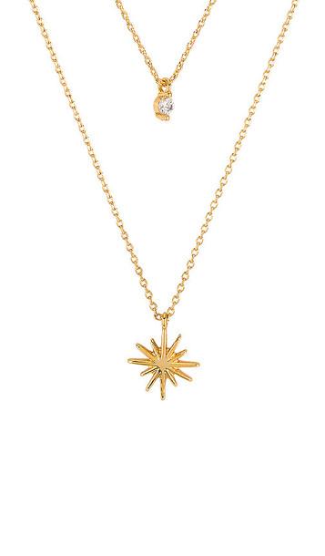 Ettika Layered Star Necklace in Metallic Gold