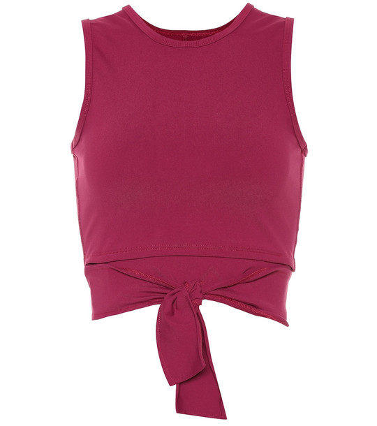 Live The Process Block cropped tank top in pink