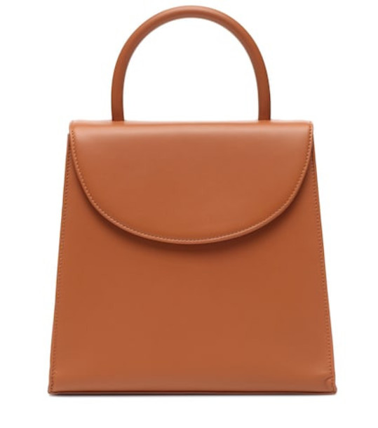 By Far Tamara leather tote in brown