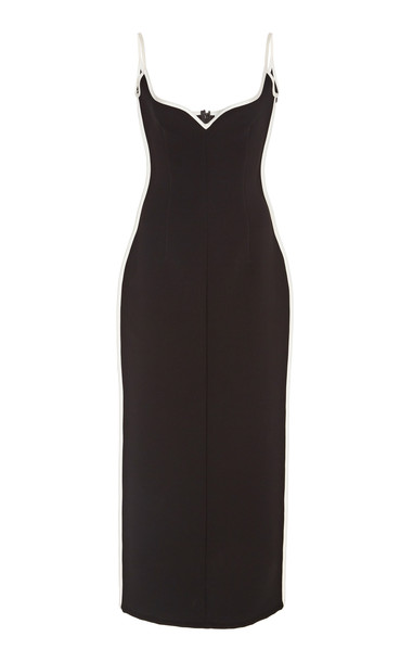 Paris Georgia Heart Piping Dress in black