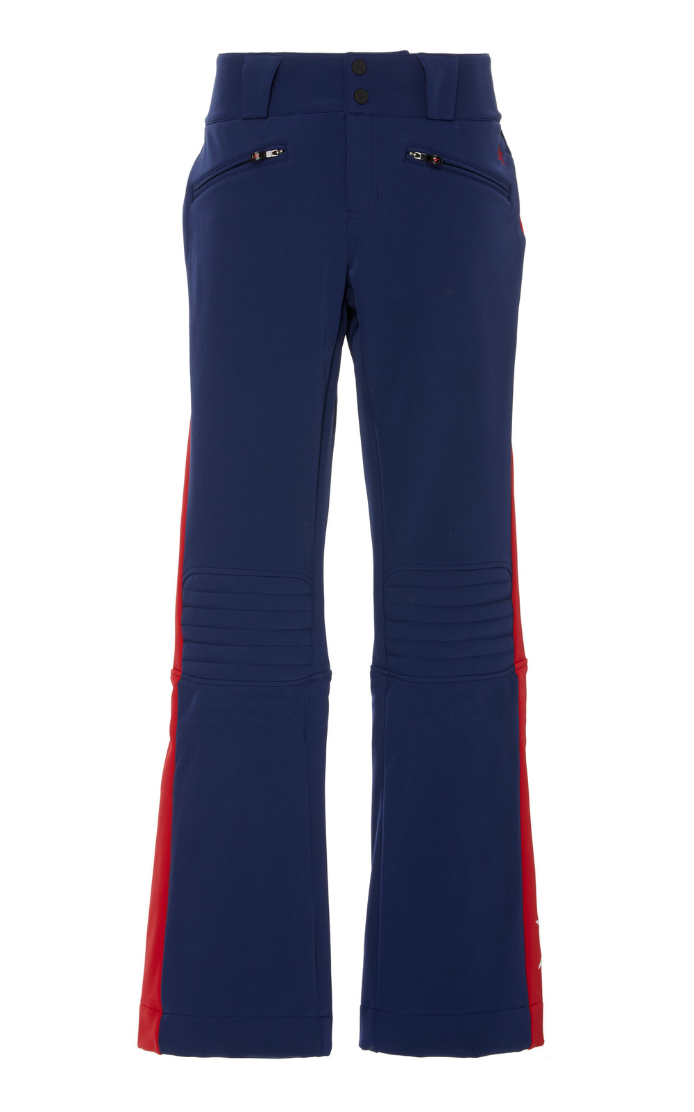 Perfect Moment GT Striped Stretch-Jersey Flared Ski Pants in navy