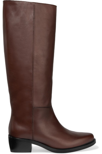 LEGRES - 06 Leather Knee Boots - Brown
