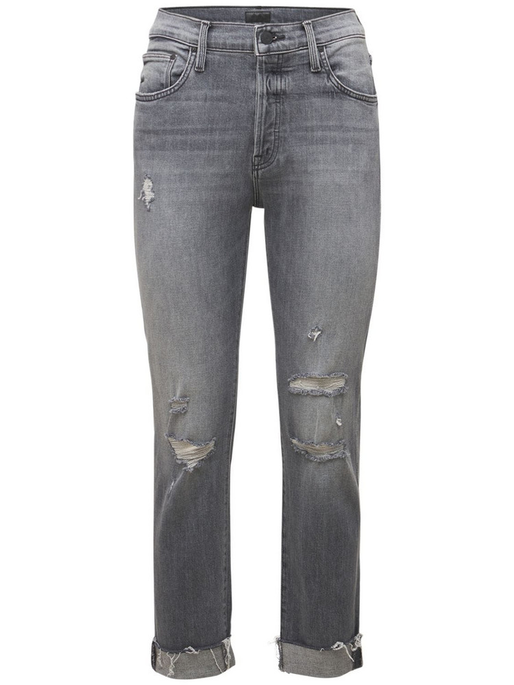 MOTHER The Scrapper Fray Jeans in grey