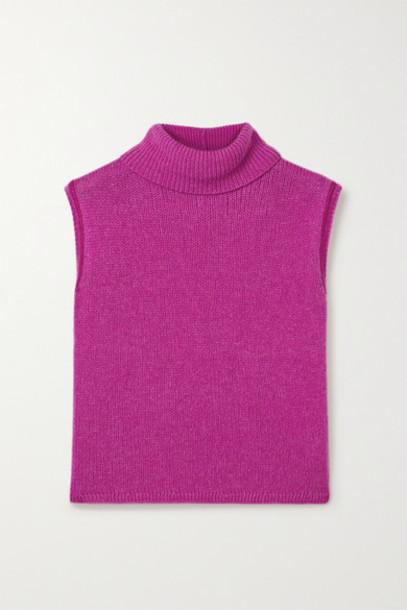 The Row - Giselle Cashmere Turtleneck Sweater - Fuchsia
