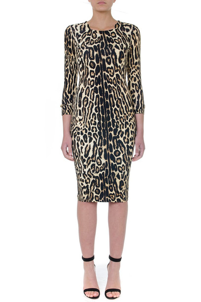 Burberry Camel Animal Viscose Dress