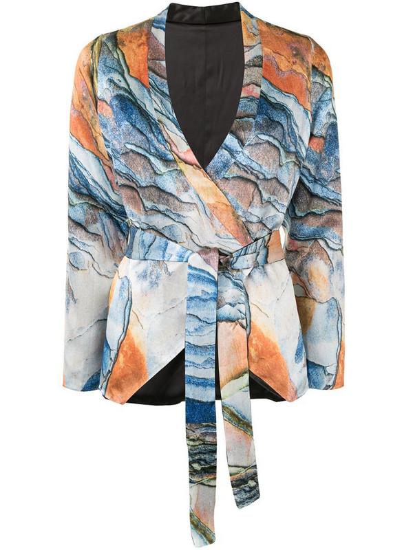 Lisa Von Tang graphic-print tie-waist jacket