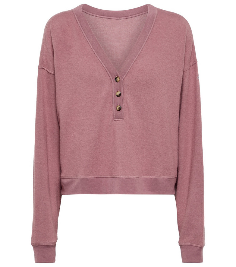 Alo Yoga Alolux Soho crop top in pink