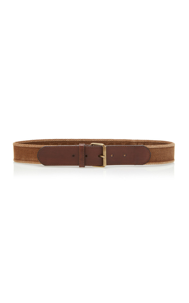 Alberta Ferretti Cotton Ribbon Belt in brown