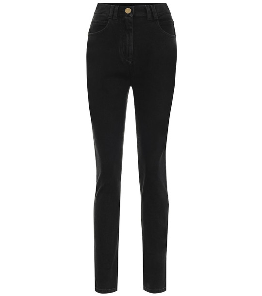Balmain High-rise skinny jeans in black