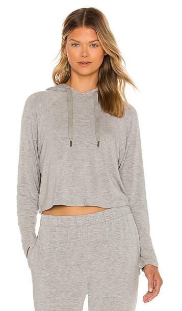 Calvin Klein Underwear Long Sleeve Hoodie in Grey