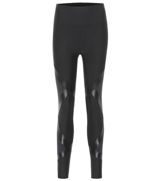 Lanston Sport Silas high-rise leggings in black