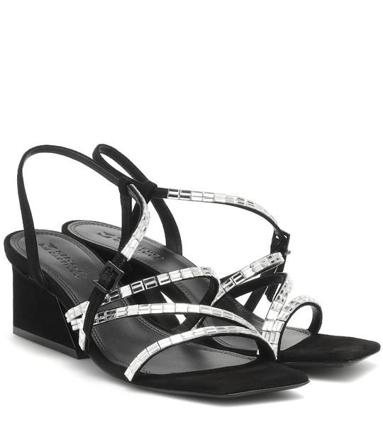Mercedes Castillo Kelina suede sandals in black
