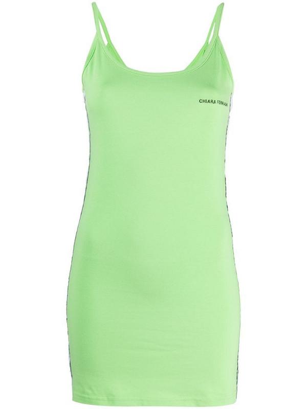 Chiara Ferragni logo-tape tank dress in green