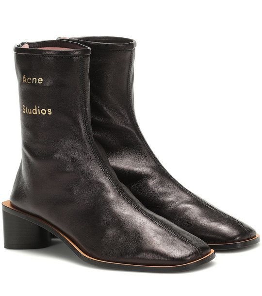 Acne Studios Leather ankle boots in black