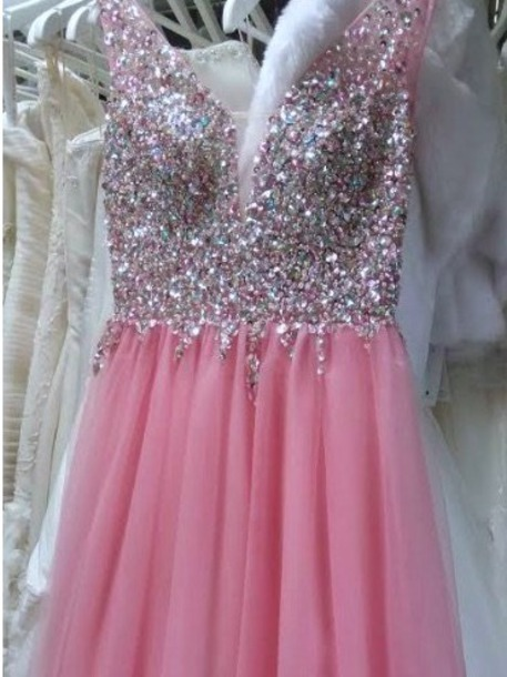 dress prom prom dress diamonds dream dress my dream dress pink dress sparkle helpmefindit girly