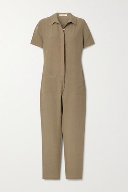 MATIN - Linen Jumpsuit - Light brown