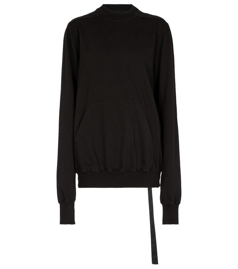 Rick Owens Cotton sweatshirt in black