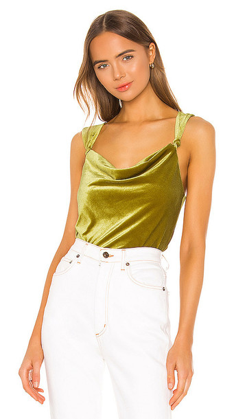 Song of Style Carina Top in Green,Mustard