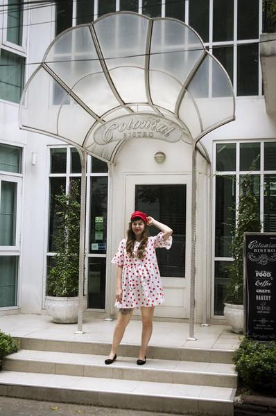lostinthehaze blogger dress hat