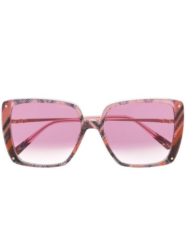 MISSONI EYEWEAR abstract print oversized sunglasses in pink