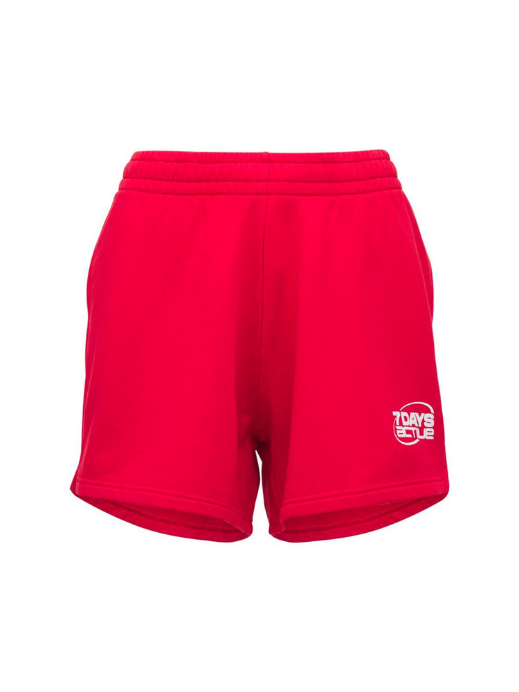 7 DAYS ACTIVE Sweat Shorts in red