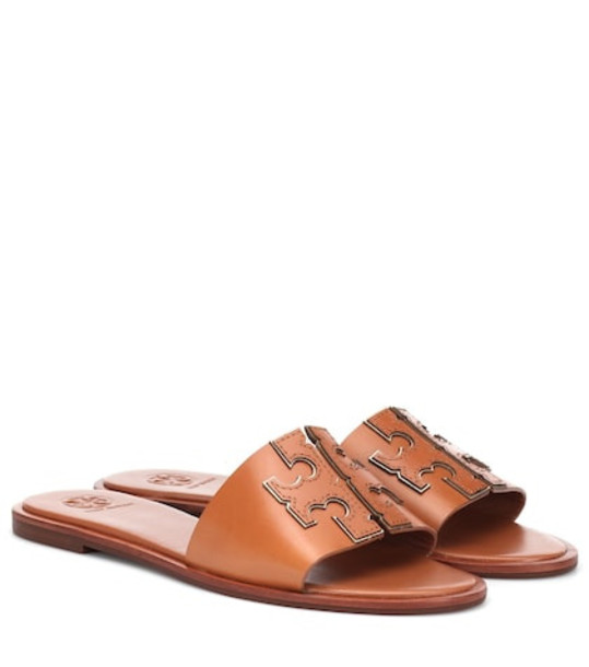 Tory Burch Ines leather slides in brown