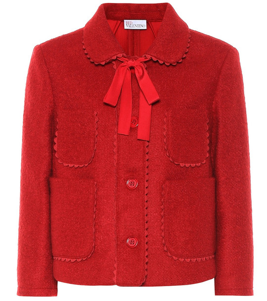 REDValentino Wool-blend jacket in red