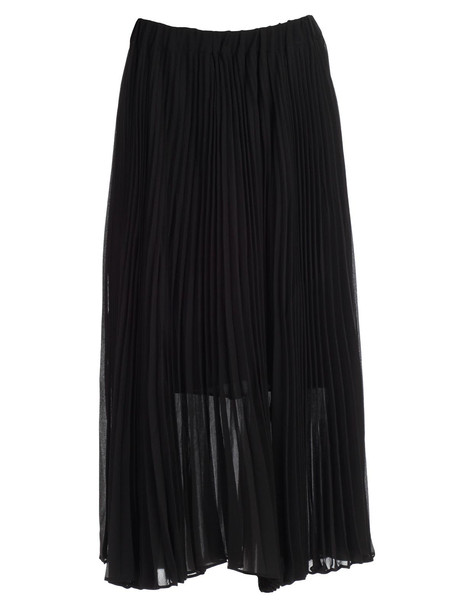 MICHAEL Michael Kors Skirt Pleated Longuette in black