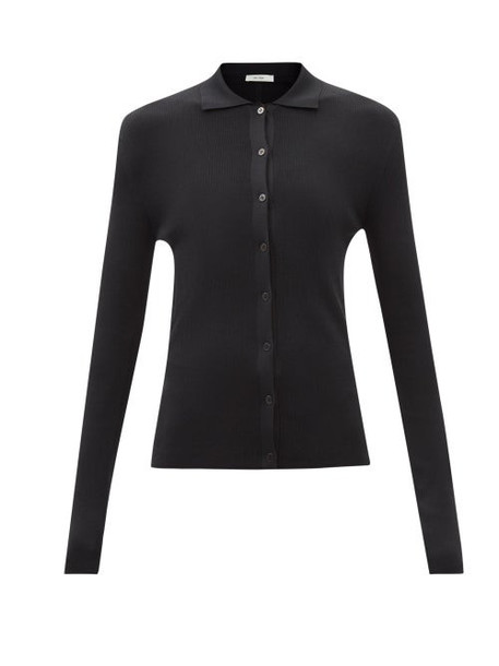 The Row - Dryan Buttoned Silk-knit Sweater - Womens - Black