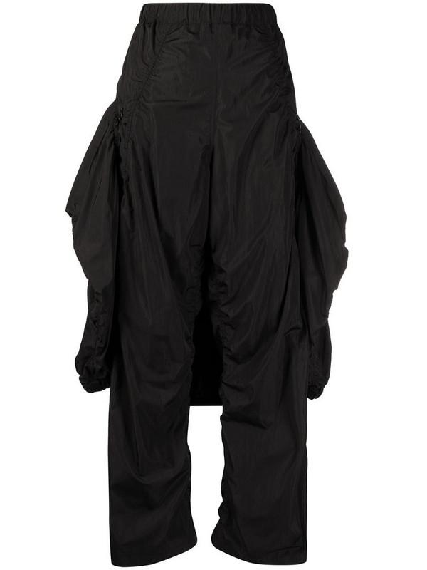 Hyein Seo high-rise layered trousers in black
