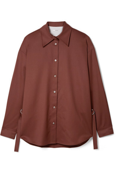 LE 17 SEPTEMBRE - Wool-twill Shirt - Chocolate