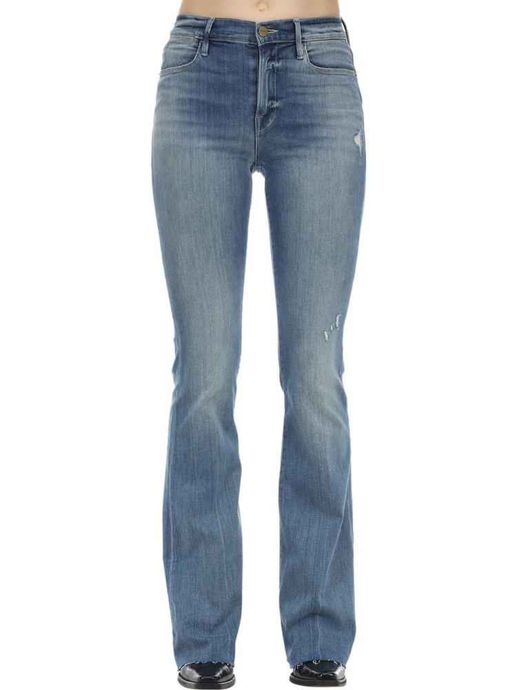 FRAME Le High Flared Stretch Denim Jeans in blue