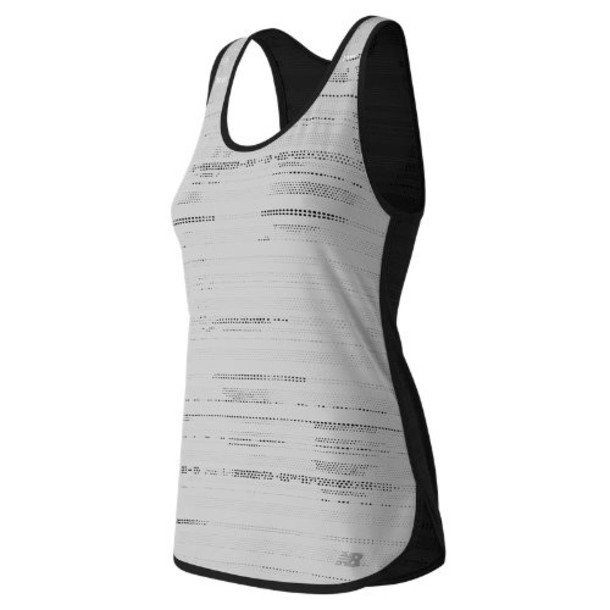 New Balance 61110 Women's Mesh Tank - Black/White (WT61110BKW)