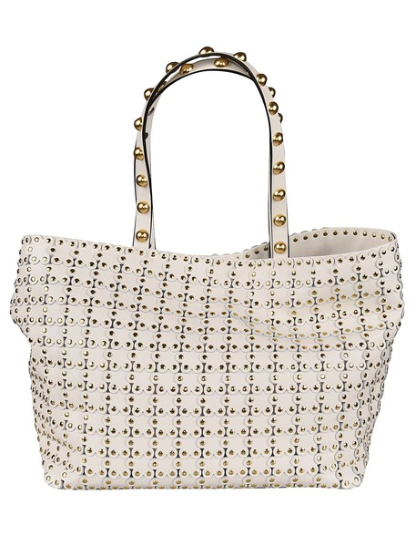 Valentino Flower Puzzle Tote in white