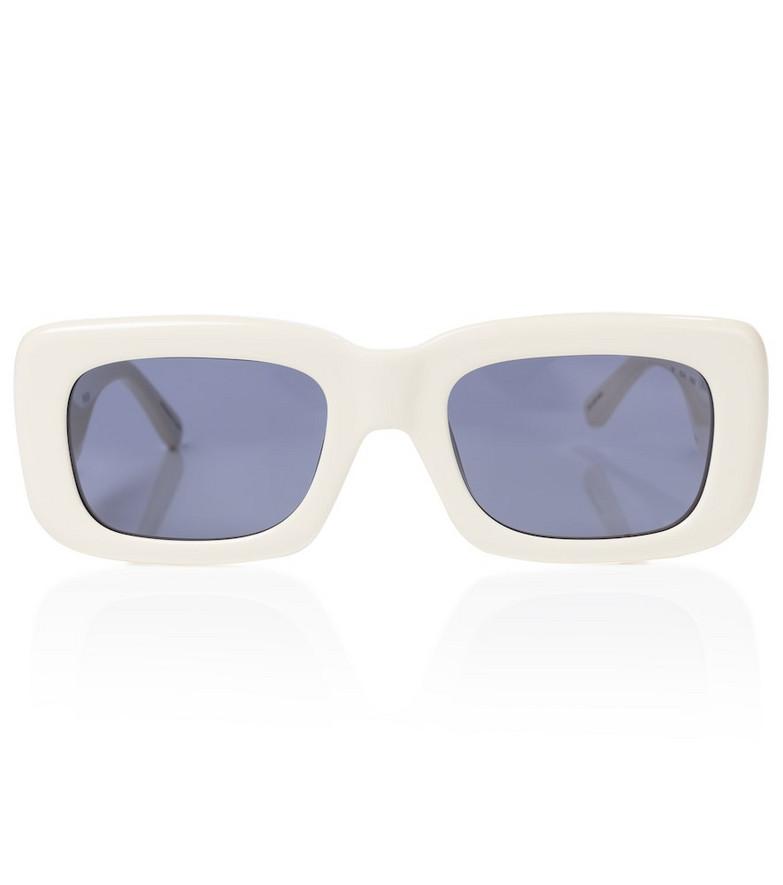 The Attico x Linda Farrow Marfa square sunglasses in white