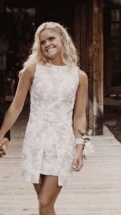 dress,white,white dress,graduation dress,chanel inspired,vsco,trendy,homecoming dress