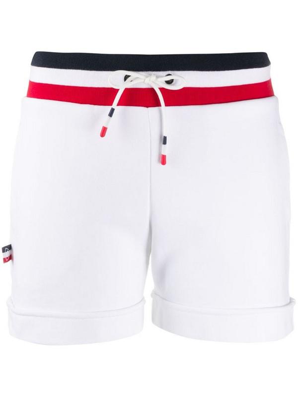 Rossignol striped-waist track shorts in white