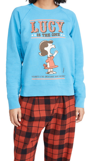 The Marc Jacobs Peanuts x MJ The Sweatshirt in blue